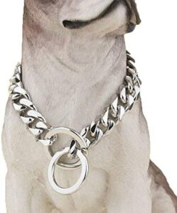 choke cuban chain dog collars