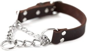 mighty paw leather best collar for doberman
